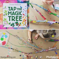 NATURE HAS THE BEST MATERIALS! This is an EASY art activity to keep the kids busy and creative this summer. Incorporate art, literature, and nature with this tree painting activity.