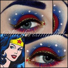 Wonder Woman! ❤☆💙☆💛 created with #sugarpill love+ and #urbandecay chaos (which is a bitch to blend!) Happy New Year everyone! - @luciferismydad- #webstagram