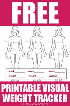 Free Printable - Visual Weight Loss and Measurement Tracker