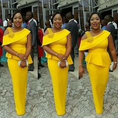 These Top 15 Trendy Aso Ebi Styles can be so stylish depending on how you want to look, with this unique styles the print tremendous use is timeless. African Dresses For Women, African Attire, African Fashion Dresses, African Wear, African Women, African Outfits, African Print Fashion, Africa Fashion, African Prints