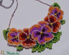 Árvácskás nyaklánc lila-piros-narancs színben (DobisMaria) - Meska.hu