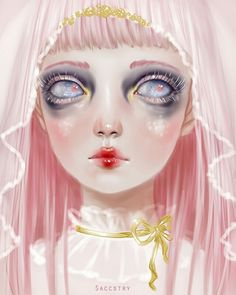 albino, art, and illustration image