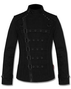 Tripp NYC Mens Bondage Jacket Black Goth Punk Psycho Moto Bondo Vest #TrippNYC #BikerJackets