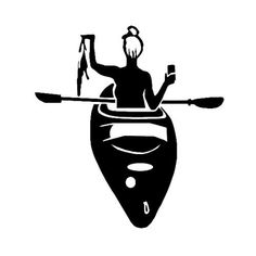 Kayak Vinyl Decal Sticker by GreatLakesDecals on Etsy Kayak Decals, Kayak Stickers, Bumper Stickers, Vinyl Decals, Kayak Camping, Camping Life, Kayak Fishing, Scarlet Spider, Black And White Cartoon
