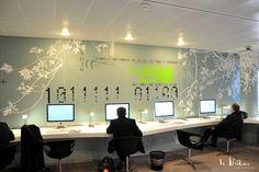 Design d'espace pour le salon internet de Roissy pôle C.E. lignes Air France