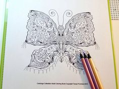 Gypsy Moth Adult Coloring Page Instant Download Coloring Pages, Coloring Sheets, Adult Coloring Books Amazon, Gel Pens, As You Like, Colored Pencils, Moth, Markers, Color Schemes
