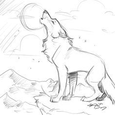 sketch wolf