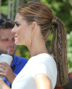 Maria Menounos Hairstyles: Ponytail with Braid