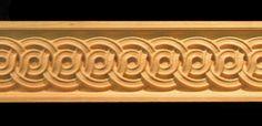Wood Carved Moulding - Decorative Ring Weave Vikings, Moulding Profiles, Laser Cut Patterns, Green Street, Carving Wood, Wood Molding, Ceiling Decor, Woodcarving, Celtic