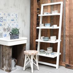 MUST Living | stool White Forest