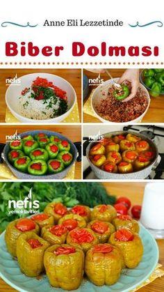 Biber Dolması Tarifi (videolu) nasıl yapılır? #biber #dolma #ramazan #iftar #yemek