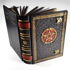 An exquisite handmade large leather journal for you to record your encounters with magic, spells and all the mysteries the world has to offer.  ________ www.alexlibris-bookart.com