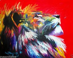 Image result for lion crying art painting