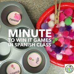 Minute to Win It Games in Spanish Class NINE Games to play in class- perfect for any level-or any language! Mundo de Pepita, Resources for Teaching Spanish to Children