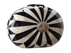 """Rafe New York """"Lizelle"""" Minaudiere in black and white mother-of-pearl inlay- available @Zappos"""