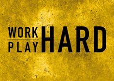 Work hard, play hard | Motivation | Echte Postkarten online versenden…