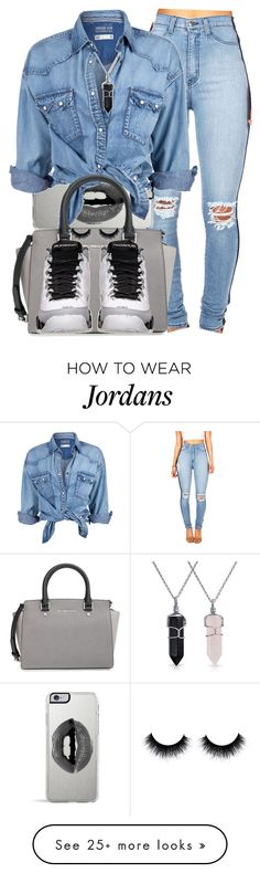 """Denim dayz"" by lovejaycii on Polyvore featuring Lipsy, Soul Cal, MICHAEL Michael Kors, Retrò and Bling Jewelry"