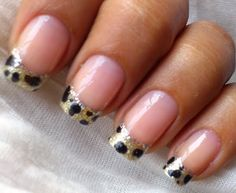 Leopard Tips  #beauty #nails #diy_video
