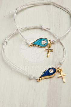 Stylish witness bracelet - martyrika with mati and cross