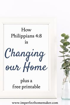 how philippians is changing our home Christian homemaking Christian Homemaking, Christian Parenting, Christian Living, Christian Faith, Christian Women, Mom And Baby, Baby Love, Philippians 4 8, Raspberry Leaf Tea