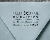 Address Stamp, Wood Handle, Personalized Gift, Custom Address Rubber Stamp - housewarming or wedding gift - a1009