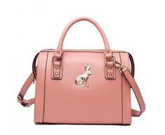 Buy online Forest Rabbit Satchel Bag Pink at shop fashion handbags Online-S.com