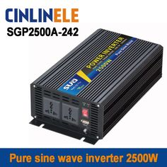 175.50$  Buy now - http://alijj8.worldwells.pw/go.php?t=32737141126 - Smart Series Pure Sine Wave Inverter 2500W SGP2500A-242 DC 24V to AC 220V 2500W Surge Power 5000W 175.50$