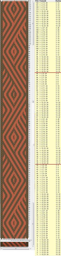 Diagonal 24 tarjetas, 2 colores, repite cada 44 movimientos // sed_574 diseñado en GTT༺❁