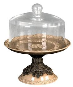 Drake Design 3614 Cake Platter with Glass Dome Multiple Function, Taupe, 15x18.75 Inch Drake Design http://www.amazon.com/dp/B0052BGL28/ref=cm_sw_r_pi_dp_WlFPtb17C1JKR58T