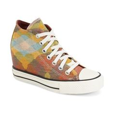 Converse Chuck Taylor All Star Missoni 'Lux' High Top Sneaker (140 SGD) ❤ liked on Polyvore featuring shoes, sneakers, high top lace up shoes, lace up shoes, hi tops, star sneakers and converse trainers