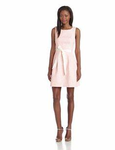 Trina Turk Women's Aime Sleeveless Playa Pop Color Tweed Fit and Flare Dress