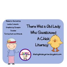 There Was an Old Lady Who Swallowed a Chick Literacy Unit on TpT
