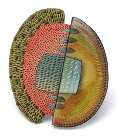 Kathleen Dustin:  Tribal Pin in Green.  See Vicki Grant, Kathleen's inspiration.