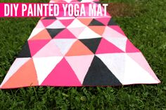 DIY Painted Yoga Mat – Use older mats, paint special designs and sell with 100% of proceeds going to hasbro children's hospital???