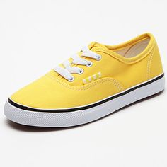 Mars+Senior+Lace-Up+Canvas+Shoes+-+Yellow