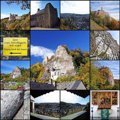 Idar-Oberstein Collage -- Oberstein Castle -- Crag Church by destinatio, via Flickr. I really love old Castles.  www.photopix.co.nz Collage, Sweet Home, Germany, Instagram, Castles, Art, Stones, Art Background, Collages