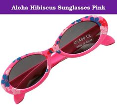 "Aloha Hibiscus Sunglasses Pink. ""Kaila"" is Hawaiian for ""style"". Kids will keep cool and kaila this summer with Little Girl Mart's new Pink Aloha Hibiscus Sunglasses! These sunglasses are adorable and fitting for the summer months. Wear them during the winter to remind you that the sun is on its way back. All of Little Girl Mart sunglasses are FDA approved, lead free, and offer UV400 protection. Aloha! 5"" L 1.5 T."