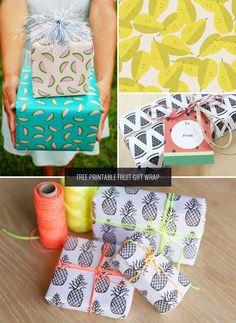Confezione Regalo libero della frutta stampabile come visto su papercrave.com