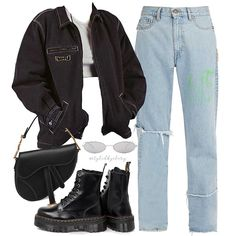 On p a r i s styledbyclary aesthetic aestheticfashion outfitideas outfitinspo source by dyaneeddrabek fashion outfits 25 ways to wear a leather jacket Style Outfits, Edgy Outfits, Mode Outfits, Retro Outfits, Grunge Outfits, Grunge Fashion, 80s Fashion, Look Fashion, Korean Fashion