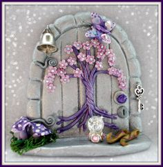 Polymer Clay Fairy Door Under The Sea by MistsofAzura on Etsy, Polymer Clay Fairy, Polymer Clay Projects, Polymer Clay Creations, Fairy Garden Doors, Fairy Doors, Clay Fairy House, Fairy Houses, Fairy Crafts, Diy And Crafts