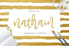 Nathain Font Duo by Youngtype NEW! Nathain script is a hand brushed font created with a brush and ink, bold and irregular baseline. Contains a complete set of lowercase, uppercase, alternates, ligatures, punctuation, numbers, and multilingual support. And additional Nathain sans, working in harmony with Nathain script to create typography awesome creations. Get some inspiration from the preview above. Contains a complete set of lowercase, uppercase, ligatures, punctuation, numbers…