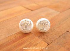 Perlas con el simbolo del árbol de la vida en Plata de Ley por solo 7,95 €