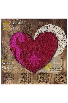 "Alexandra Suarez's ""The Love Poem"" Print On Canvas - 18"" x 18"""