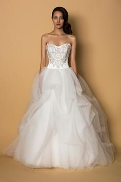 Roses by Alyne by Rivini #wedding #dress #embroidery #sweetheart