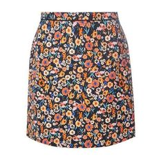 Black and Pink Floral A-line Skirt (165 RON) ❤ liked on Polyvore featuring skirts, bottoms, floral knee length skirt, a-line skirt, floral printed skirt, floral skirt and floral print a-line skirt