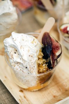 Dessert from heaven.....Fig & Honeycomb Ice-cream