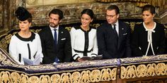 Princess Madeleine, Prince Carl Philip, Princess Sofia, Prince Daniel, and Crown Princess Victoria of Sweden attend a service commemorating the opening of the parliamentary session.   - TownandCountryMag.com