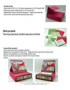 Desk Top Calendar Box | Scribd
