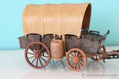 Antigua carreta del oeste de los clicks de FAMOBIL - Referencia 3243. Años 80 - Sin caja (Juguetes - Figuras de Acción - Playmobil)