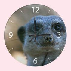 #Funny #Meerkat Round #Wallclocks